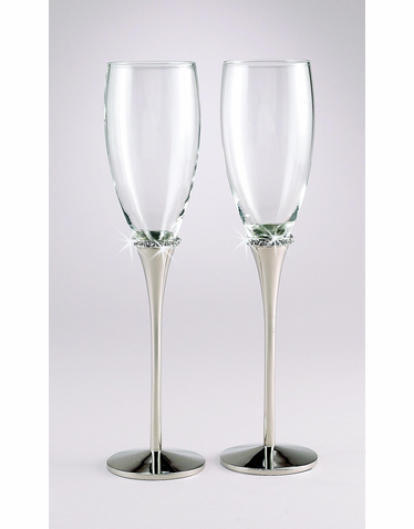 Engraveable Crystal Flutes
