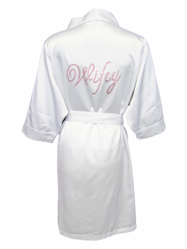 Double Royal Bling Rhinestone Bride Robe - Mrs. Robe - Wifey Robe