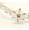 Satin Headband with Crystal Flower Embellishment