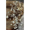 Curvy Wire Hair Comb with Pearls and Crystals 7016