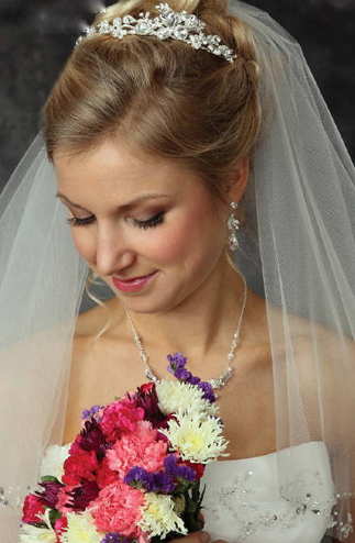 Wedding Headpiece with Large Teardrop Rhinestones 7035