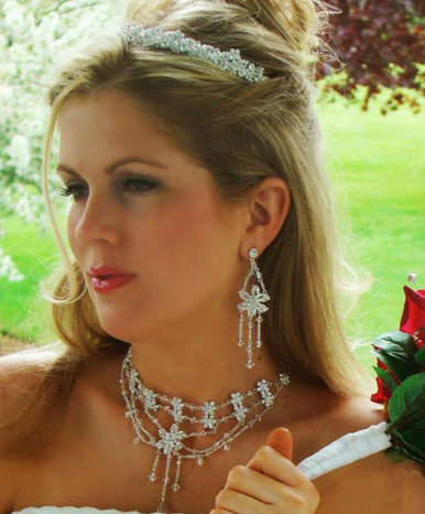 Couture Matching Bridal Tiara and Jewelry Set