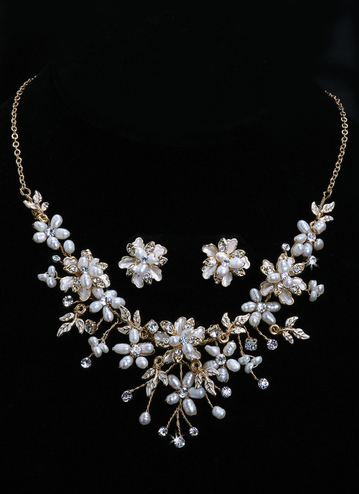 En Vogue Bridal Necklace & Earring Set NL651