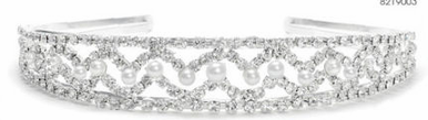 Bridal Headband in White and Silver