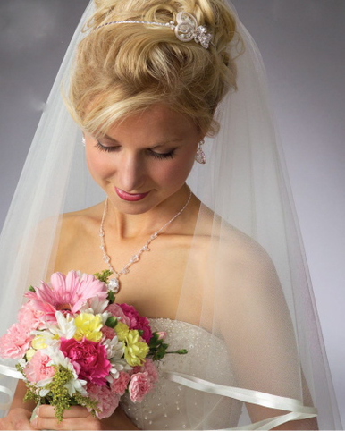 Silver Headband with Cute Side Accent 6045