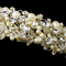 Pearl and Crystal Bridal Tiara in Silver or Gold