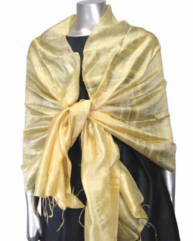Silk Evening Wrap in Sunshine