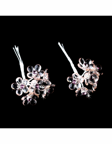 Crystal Flower Bouquet Jewelry - Set of 12