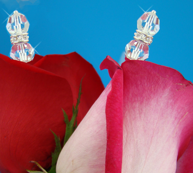 Rondell Crystal Bouquet Jewelry Sticks - Set of 2