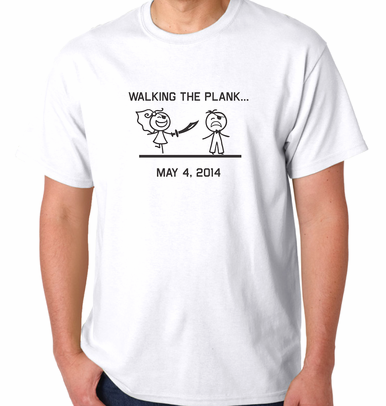 """Walking the Plank"" Groom's T-shirt"