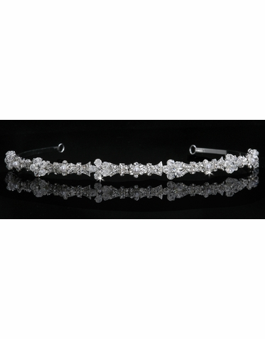 En Vogue Bridal Crystal & Pearl Tiara T500