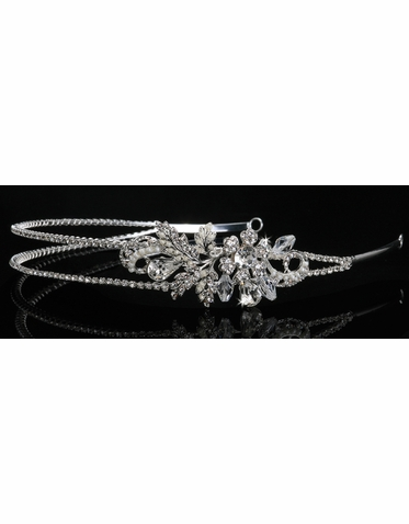 En Vogue Bridal Crystal & Pearl Tiara 854