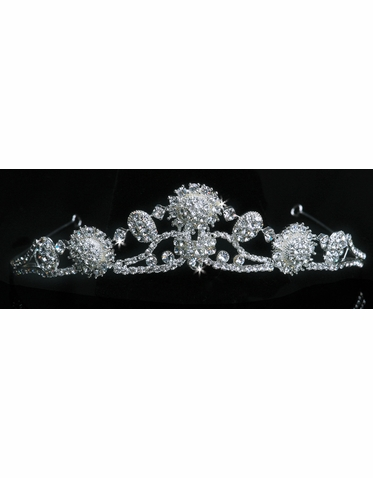 En Vogue Bridal Crystal Medallion Tiara 1105