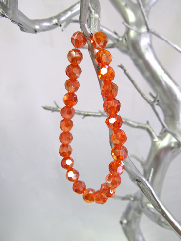 Orange Crystal Bead Bracelet