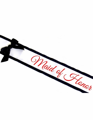 Custom Printed Sash with Bow - Many Color Combos Available!