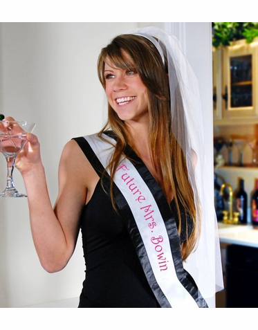 Personalized Sash for Bachelorette Party and Bridal Shower