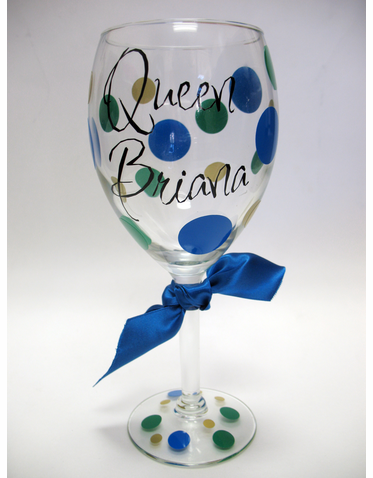 Custom Queen Personalized Wine Glass