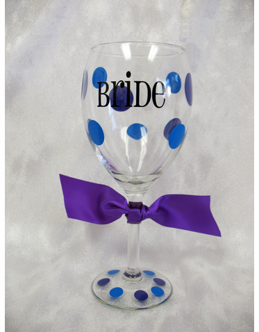 Custom Wine Glass for the Bride