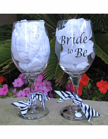 Groom and Bride to Be Wine Glasses - Sold Individually