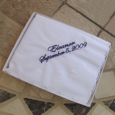 Boxed Personalized Hanky Gift