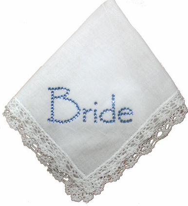 Crystal Bride Linen Something Blue Hanky