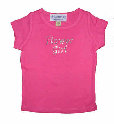 Rhinestone Flower Girl T-Shirt