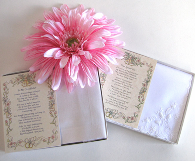 Wedding Handkerchief - From the Bride to an Out-of-Town Guest