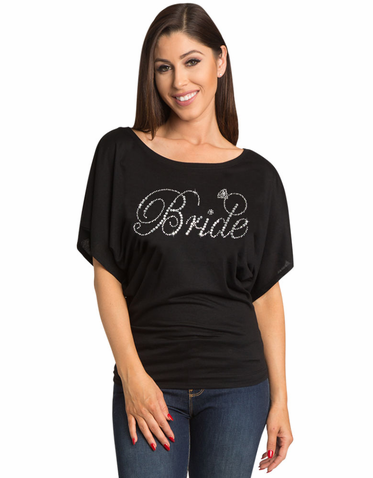 Rhinestone Bride with Small Ring Tank Top