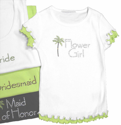 Palm Tree Flower Girl T-Shirt or Junior Bridesmaid T-Shirt