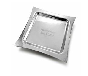 Engraved Tray in Metro Style with Invitation or Other Wording