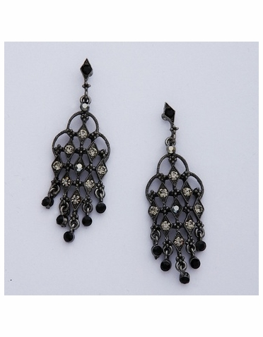 Hematite Chandelier Earrings
