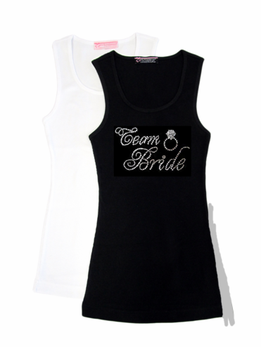 Rhinestone Team Bride Tank Tops