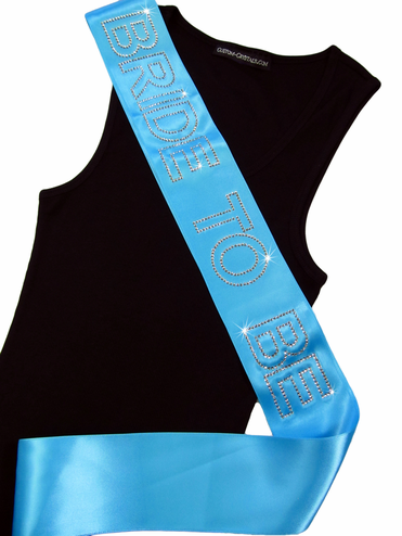 Custom Rhinestone Bride, Bride to Be or Bachelorette Sash