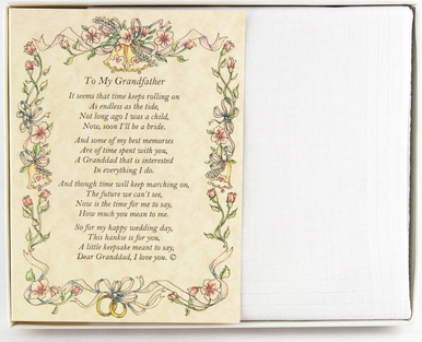 Wedding Handkerchief - From the Bride to her Grandfather