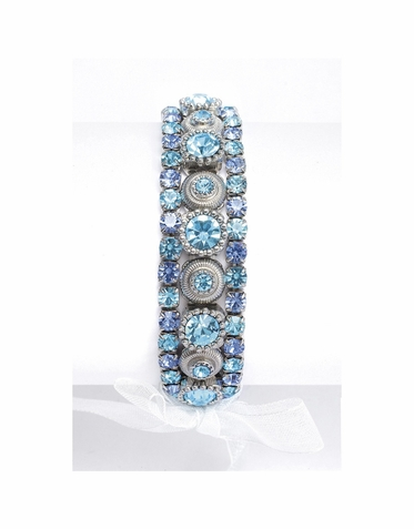 Luxurious Crystal 3-Piece Stretch Bracelet In An Array Of Colors