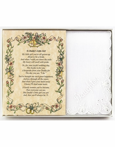 Wedding Handkerchief - To Daddy's Little Girl