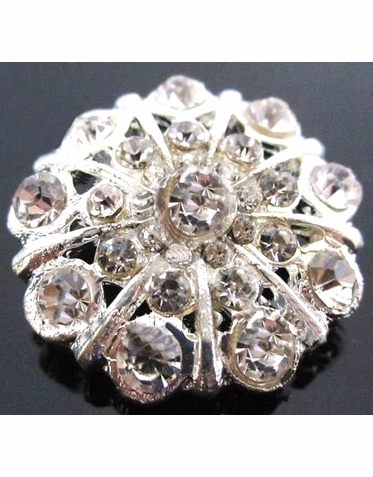 Umbrella Shaped Rhinestone Brooch