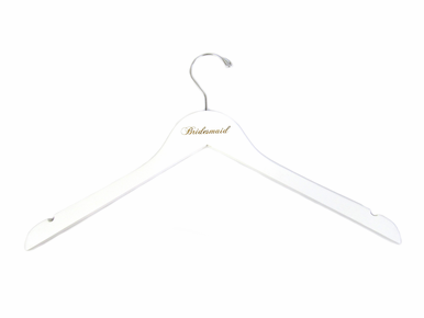 White Engraved Bridesmaid Hanger