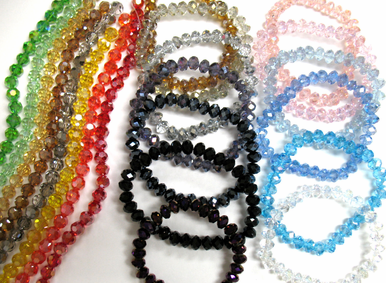 Crystal Bridesmaid Bracelets - Variety of Colors