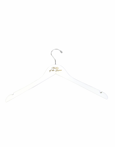 White Mother of the Groom Hanger