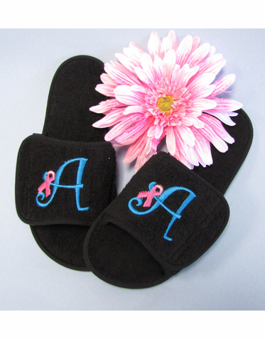 Breast Cancer Awareness Personalized Slippers