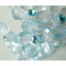 Light Blue Crystal Flower Bouquet Jewelry - Set of 12