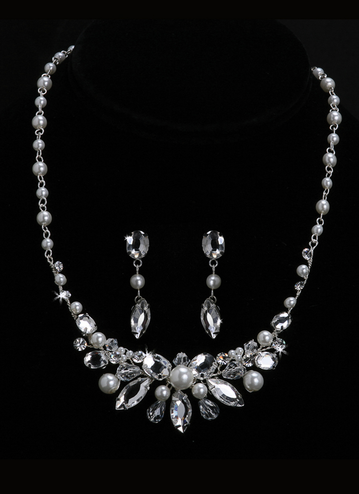En Vogue Bridal Necklace & Earring Set NL1018