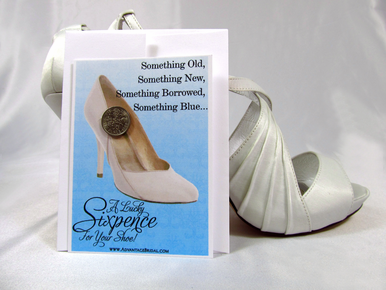 Lucky Sixpence for the Bride's Shoe