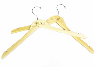 Natural Engraved Personalized Hanger