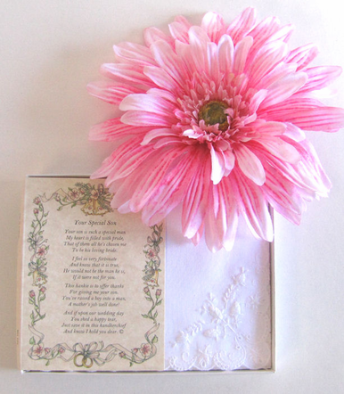 Wedding Handkerchief - Poetry Hanky from a Friend to the Bride