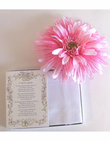 Wedding Handkerchief - Poetry Hanky from the Groom to His Stepfather