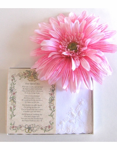 Wedding Handkerchief - Poetry Hanky from the Groom to His Godmother
