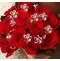Red Crystal Flower Bouquet Jewels - Set of 12 Flowers