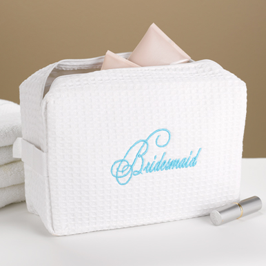 Script Bridesmaid Cosmetic Bag
